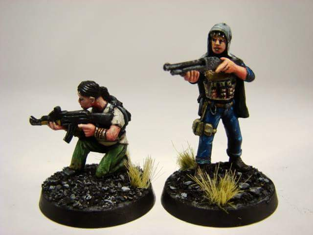 aysha and nisha painted models 1